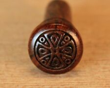 End Pin for Guitar, Bolivian Rosewood with Engraved Celtic Cross