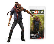"8"" SMOKER figure LEFT 4 DEAD valve INFECTED with TONGUES zombie NECA series 1"