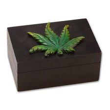 Caja de Madera Hoja Pequeña con Cerradura Secreta Wooden Stash Small Box