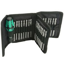 Wera Kraftform Kompakt 62 Screwdriver Bit Set with Rapidaptor - 33 Piece Pouch