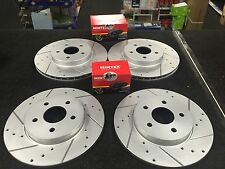 FORD MONDEO 3.0V6 ST220 DRILLED GROOVED BRAKE DISC MINTEX PADS FRONT REAR