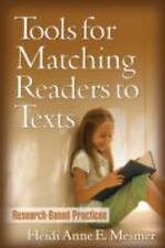 Tools for Matching Readers to Texts: Research-Based Practices Solving Problems