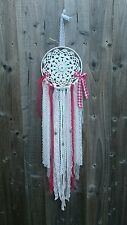white red vintage doily dream catcher lace rustic nordic Christmas xmas gingham