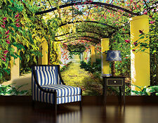 Living room giant Wall Mural photo wallpaper 368x254cm Summer green Garden