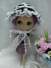 "12"" Blythe Pullip Bjd Doll outfit Headdress Ribbon & Lace European Fashion Hat"
