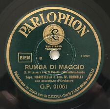 """RARE 78RPM 10"""" RUMBA DI MAGGIO/QUEL DOLCE TUO PROFUMO MARISTELLA BRUNELLI MENAS"""