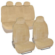 Beige Full Cloth High Back Encore Style Premium Car Seat Covers 7 pc