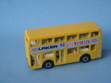 Lesney Matchbox Leyland Titan Bus Yellow Body Pre-Pro RARE with Metal Base