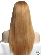 100% Remy Indian Human Hair Lace Wig Front Lace Wig #27 STOCK SELL 14''