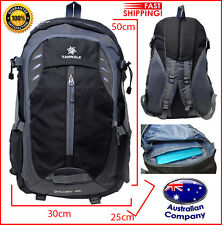 backpack new professional school travel bag multi pockets durable black grey 301