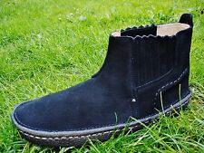 Clarks ORIGINALS DESERT RAIN Black Suede SLIP-ON Boot MEN UK-10 44.5 RRP=£89.99.
