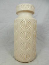 "70´s Scheurich "" Amsterdam / sliced onion "" design  pottery vase   285- 23 Creme"