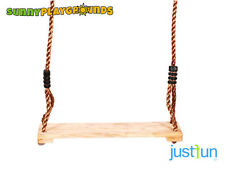 WOODEN SEAT SWING Set Tree Outdoor Porch Patio Slide Playground FreeShipping