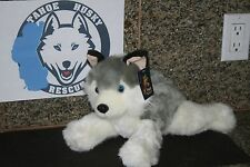 "12"" PLUSH SIBERIAN HUSKY MALAMUTE WOLF STUFFED ANIMAL BENEFIT TAHOE HUSKY RESCUE"