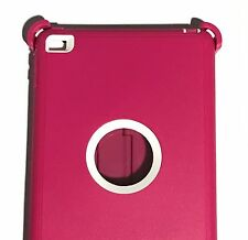Otter New Box Defender Case w/Stand For iPad Mini 4 PINK - WHITE