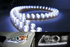 2x Universal 48LED Daytime Running Light White Shine Strip Driving DRL Fog Lamp