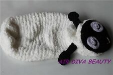 Baby Girl Boy Sheep Crochet Knit Party Shower Costume photo Photography Prop