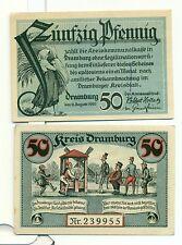 OLD GERMANY EMERGENCY PAPER MONEY - NOTGELD Dramburg 1920