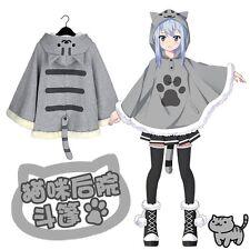 Neko Atsume Cute Cat Gray Coat Cosplay Costume