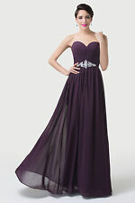 Long Chiffon Bridesmaid Formal Cocktail Wedding Party Evening Prom Maxi Dress ##