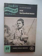 radio Praktiker bücherei UKW-Hand-Sprechfunk-Baubuch 1953