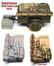 1/35 Scale Resin kit M100 Tamiya / Italeri Trailer Load #1 WW2 jeep stowage set