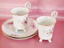 VTG Porcelain  Demitasse Cups and Saucers Tirschenreuth 1838 Bavaria, Germany
