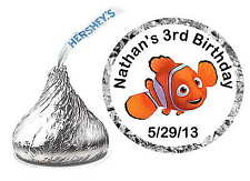 216 FINDING NEMO BIRTHDAY PARTY FAVORS HERSHEY KISS KISSES LABELS