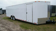 8.5x24 Enclosed Trailer 10,4000 LB Cargo V Nose 26 Utility Motorcycle 8 22 2016