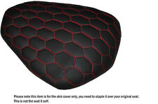 HEX DESIGN RED STITCH CUSTOM FITS YAMAHA YZF R1 09-14 1000 REAR SEAT COVER