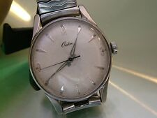 Vintage CROTON Men's  17j Wristwatch cal N19 C2507  RUNS Stainless Steel case