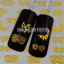 Gold 3D Nail Sticker Decals For Nail art tips Decoration tool Beauty mask design
