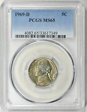 1969-D Jefferson Nickel PCGS MS65 Insane Neon Rainbow Toned Front & Back