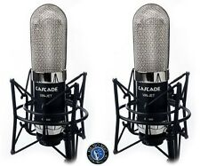 Cascade VIN-JET Ribbon Microphone STEREO PAIR w/Bar, Case - Black/Silver Finish