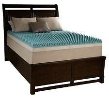"""2"""" Queen Egg Crate Foam Mattress Topper Beautyrest Gel Memory Bed Cushion Pad"""