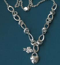 "sterling Silver Plated lock and key 18"" Necklace  you go girl!!!"