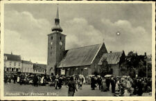 Horsens Jütland Postkarte 1944 Vor Frelsers Kirke Platz vor der Kirche Personen