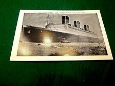 Antique The Queen Mary, New Cunard White Star Superliner Nice Postcard unused