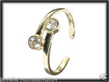 9ct yellow Solid gold adjustable Cz toe ring on twist JTR08 jewellery company