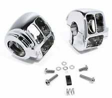 Switch housing Chrome f. Harley Davidson Heritage Fat Boy Softail Dyna Sportster