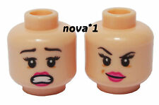 LEGO FEMALE  GIRL FLESH  PINK LIPS  DUEL SIDED HEAD  FOR MINIFIGURE