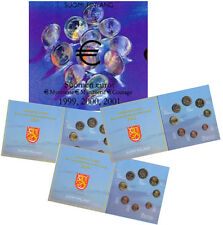 Finland 1999-2001 - Official (BU) 3 Part Euro Coin Set - Medal Art