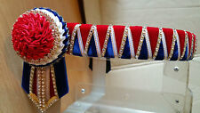 Browband Sharktooth carnation red royal white gold by Starlight Browbands