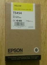 04-2016 New Genuine Epson T5454 110ml Yellow Ink for Stylus Pro 7600, 9600