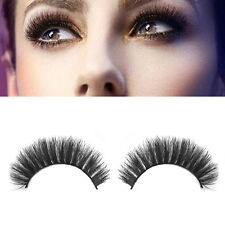 100% Real Mink Natural Thick False Fake Eyelashes Makeup Extension Eye Lashes