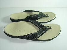 WOMENS BLACK SPENCO YUMI FLIP FLOPS THONGS SANDALS ORTHOPEDIC SHOES SIZE 5 M