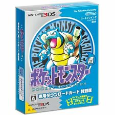 Pokemon Pocket Monsters Blue Download Special Edition + Map + Magnet Japan 3DS