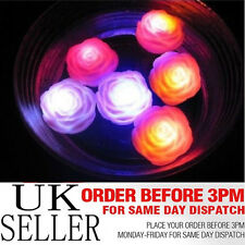 6x Impermeabile Multicolore Galleggiante LED Rosa Luminosa Bath SPA Candele