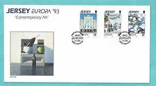 Jersey CI Channel Islands First Day Cover FDC 1993 Europa Contemporary Art