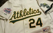 Rickey Henderson 1989 WS Oakland A's Athletics Authentic Rawlings Jersey Size 48